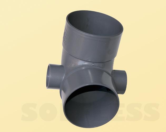 Codo con tomas laterales de 50-50